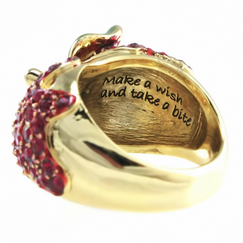 Disney Couture™ Snow White Red Apple Gold Ring